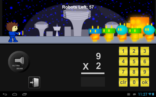 Robot Math Defense Game Lite