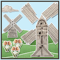 Vintage Papercraft Windmills