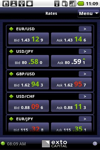 Exto Capital DroidTrader - screenshot