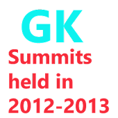Summits Held in 2012–13