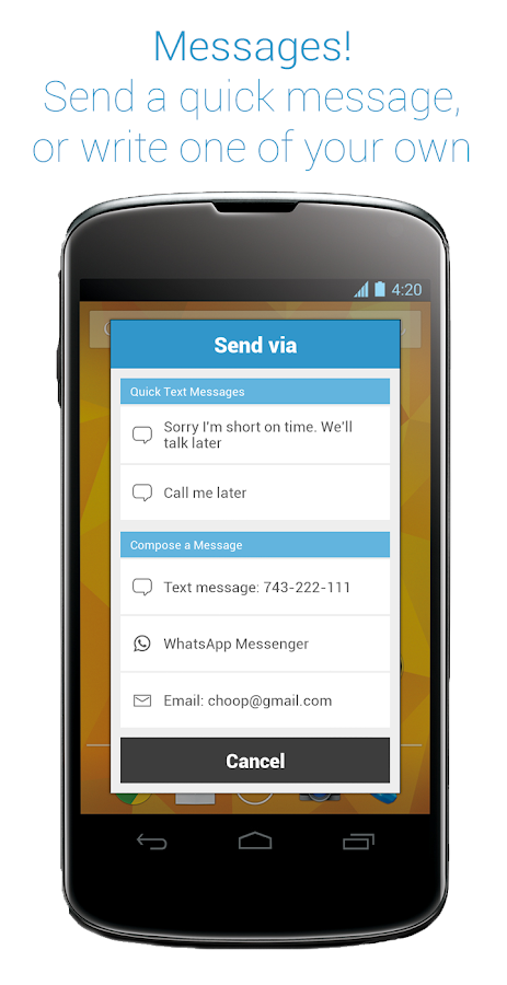 Callist - Call reminder&widget- screenshot