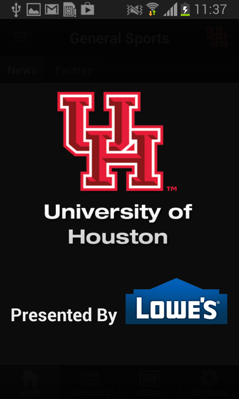 Houston Cougars Athletics - screenshot