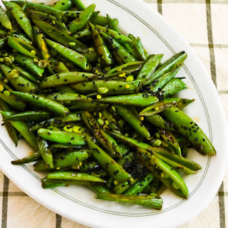 Spicy Stir-Fried Sugar Snap Peas with Soy Sauce, Sesame Oil, and Sriracha Recipe
