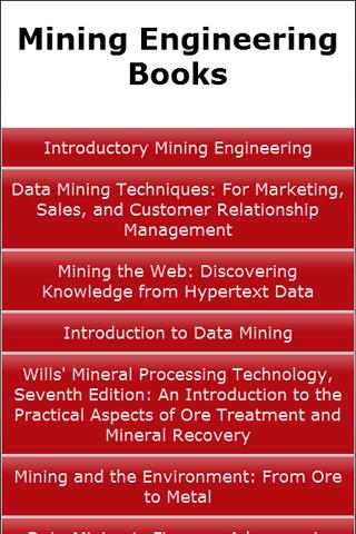 Mining Engineering Books