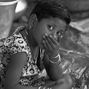 Lost Childhood : Little Anxious Shopkeeper of a village  by Surajit Rudra - Babies & Children Child Portraits