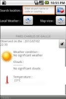 Screenshot of GlobalWeather free