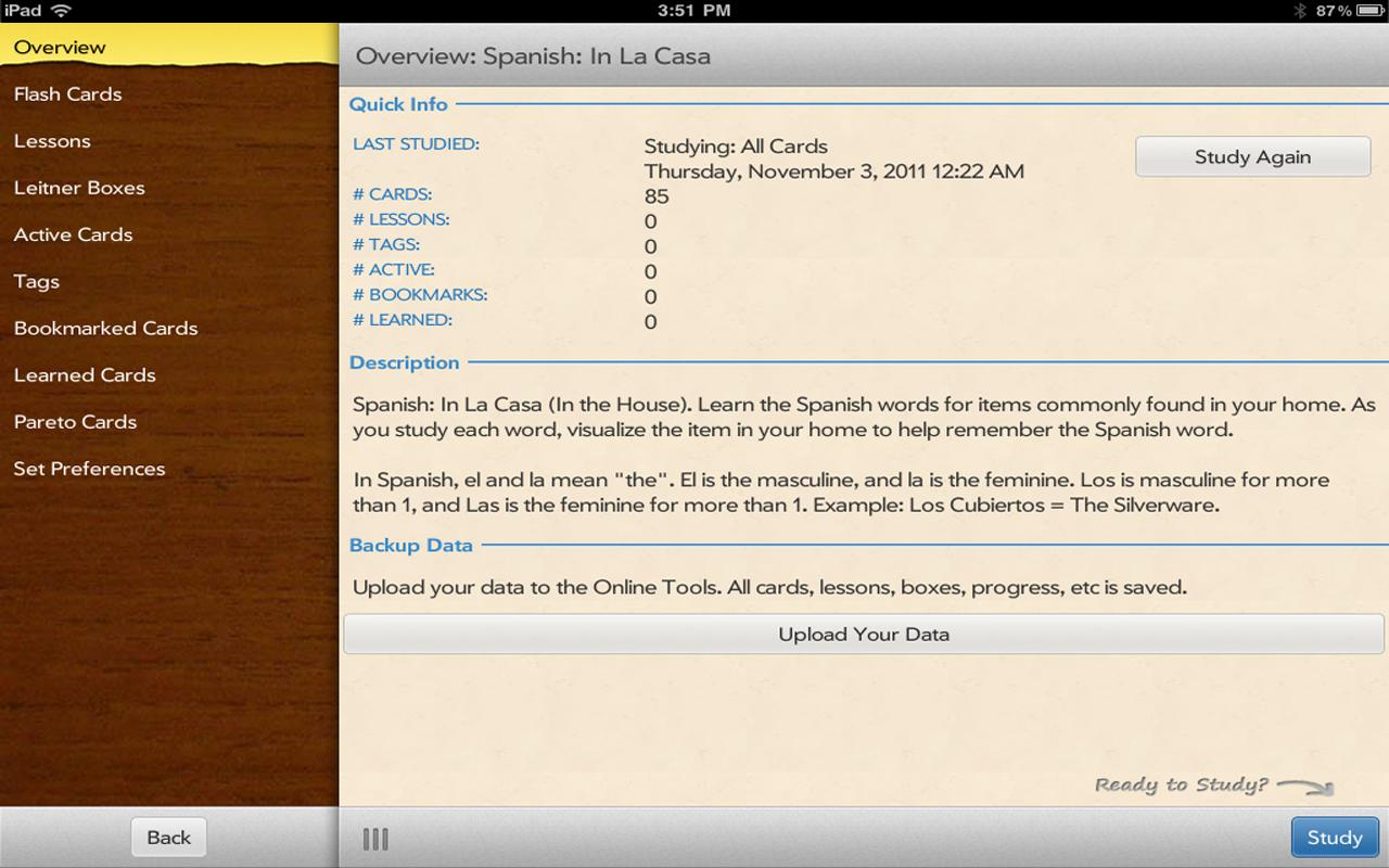 Flashcards To Go - screenshot