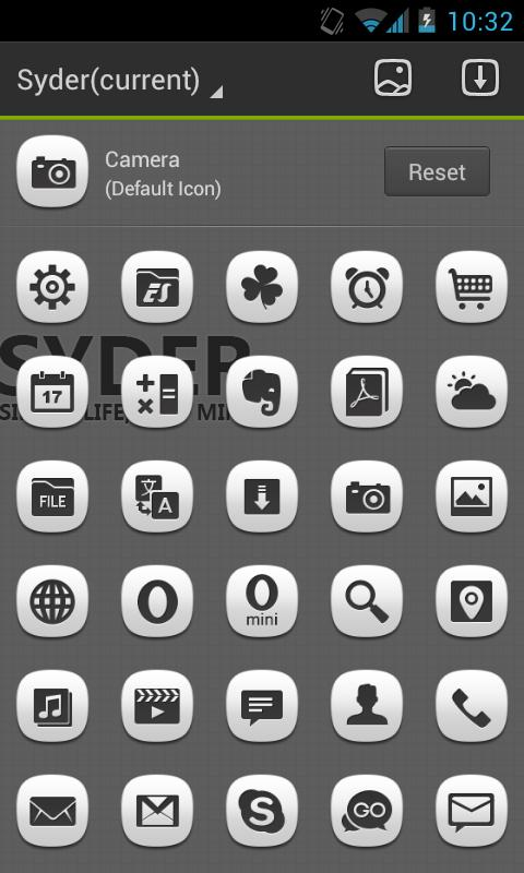 Syder GO Launcher EX Theme - screenshot