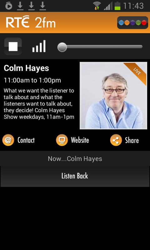 RTÉ Radio Player - screenshot