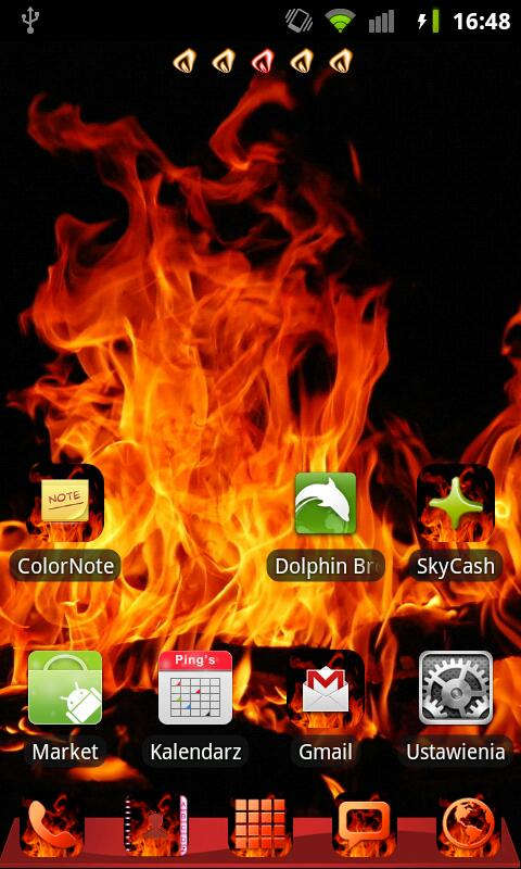 GO Launcher EX Theme Fire - screenshot