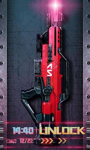Laser gun locker
