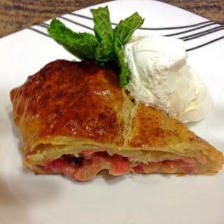 Rhubarb Pastry Braid.