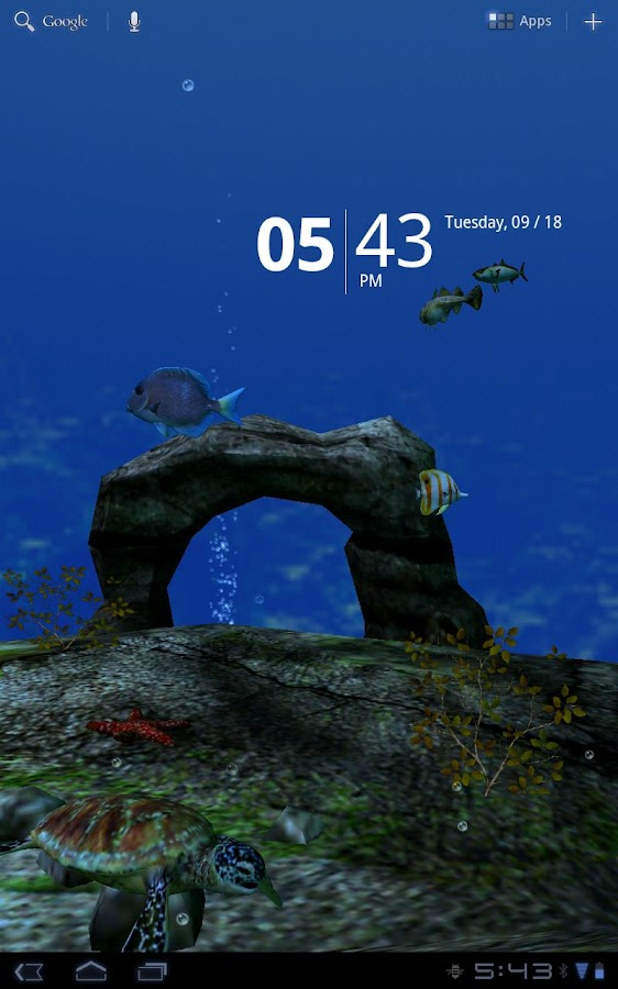 Ocean Aquarium 3D Free- screenshot