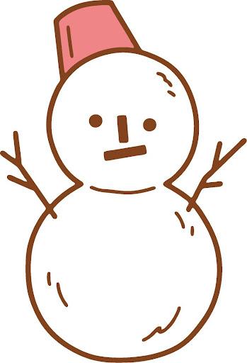 子供用お描き:雪だるまを描こう