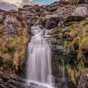Waterfall by F Kelly - Landscapes Waterscapes ( stream, ireland, carrantouhill, waterfall, kerry )