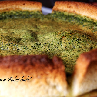 Spinach Quiche with Bread Crust.