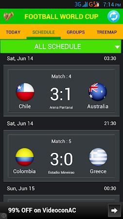 Football World Cup Live Score 1.6 screenshot 58202
