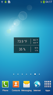 Temperature / Humidity Widget - screenshot thumbnail