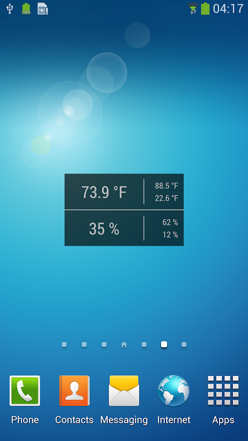 Temperature / Humidity Widget - screenshot