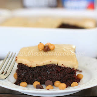 Chocolate Mayonnaise Cake with Brown Sugar Frosting.