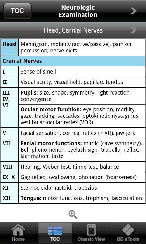 Neurology a-pocketcards - screenshot