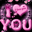 Pink I Love You Live Wallpaper logo