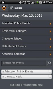Princeton Mobile- screenshot thumbnail