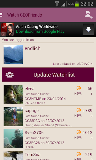 【免費娛樂App】Watch GEOFriends 4 Geocaching-APP點子