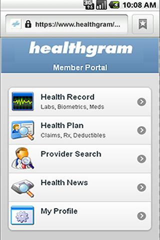 Healthgram Mobile - screenshot