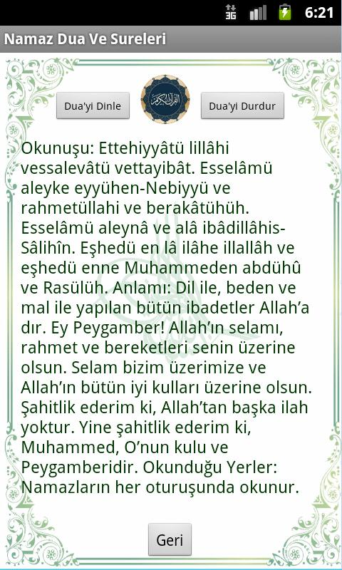 Namaz Dua Ve Sureler(Sesli) - screenshot