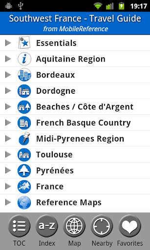 Southwest France - Guide Map