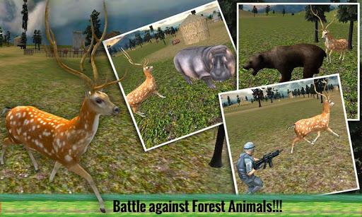 愤怒的鹿攻击和报复3D