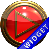 Poweramp Widget Red Gold
