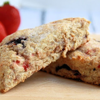 Strawberry Blueberry Scones.