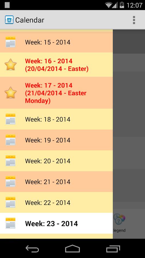 Collection calendar LITE - screenshot