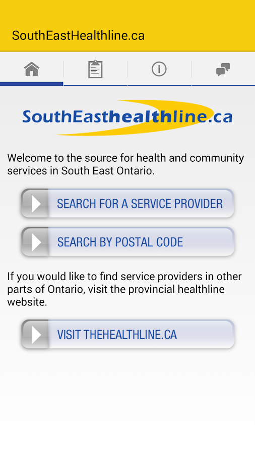 SouthEasthealthline.ca- screenshot