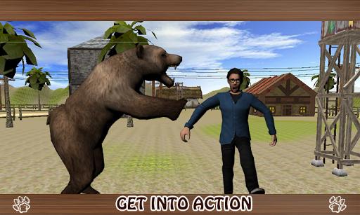 野生のクマの攻撃3D