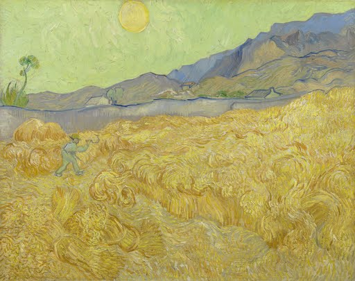 Wheatfield with a reaper - Vincent van Gogh - Google Arts & Culture