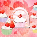 GO Locker Theme cupcake heart icon