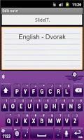Screenshot of SlideIT English Dvorak Pack