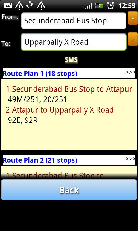 Hyderabad RTC Info - screenshot