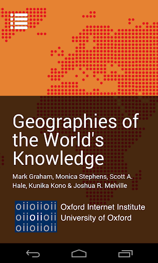 Geographies of Knowledge