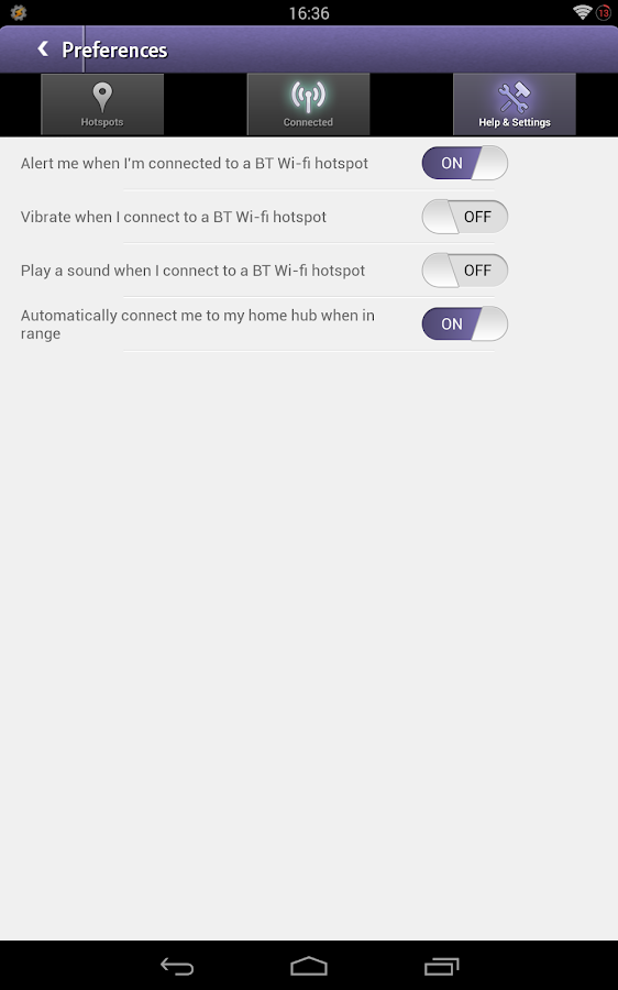 BT Wi-fi - screenshot