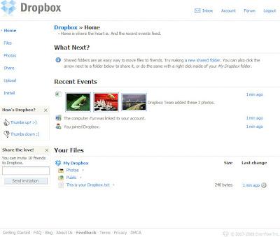 Dropbox註冊篇-09.登入後首頁