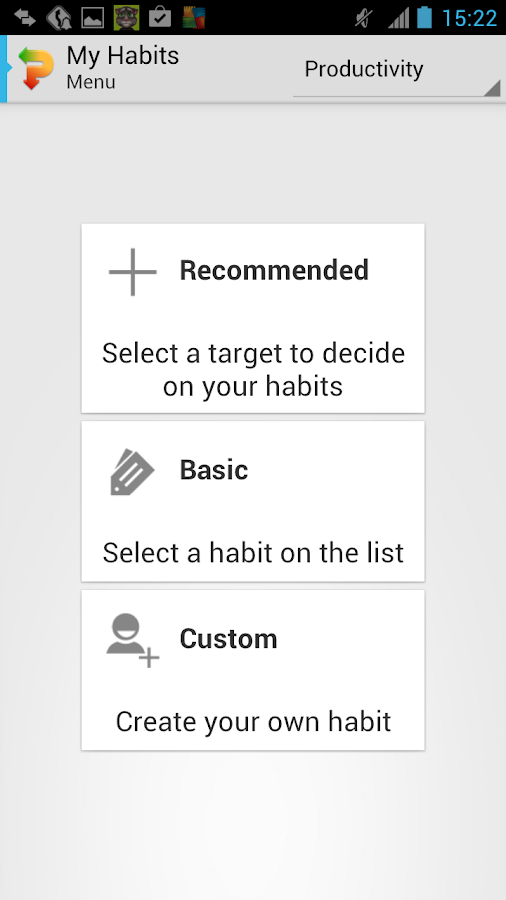Habitizer Productivity Habits- screenshot