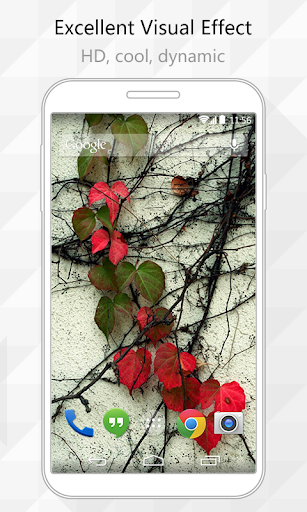 Red Leaves Live Wallpaper