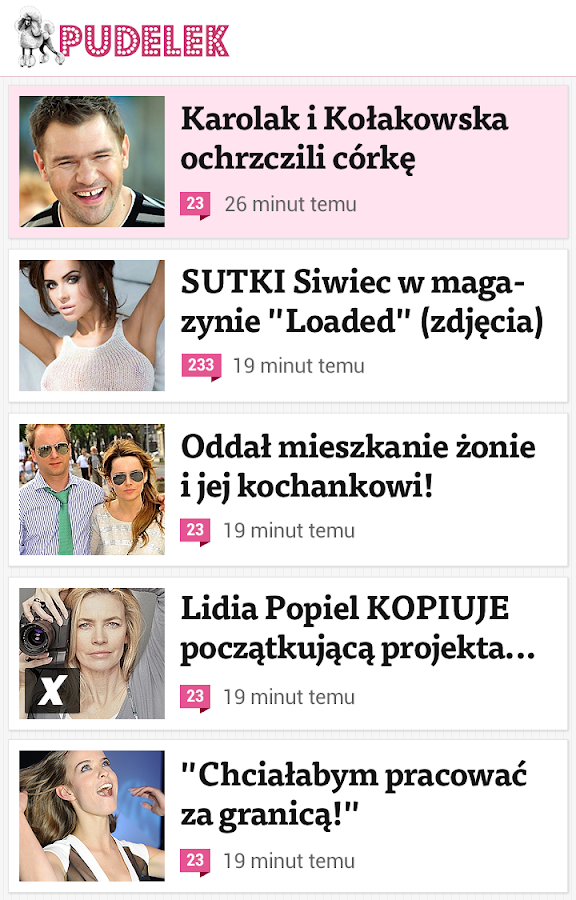 Pudelek.pl - screenshot