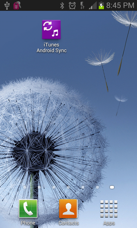 iTunes to android sync on WiFi - screenshot