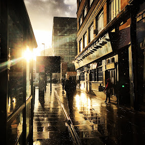 by Luis Antunes - City,  Street & Park  Street Scenes ( #rain #sun )
