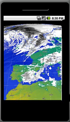 Europa Satellite Meteo Animato